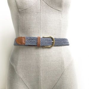 Vintage Braided Elastic Belt Size L